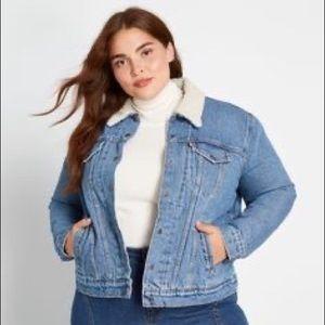 LEVIS Denim Jacket Sherpa Lined Blue Jean Jacket
